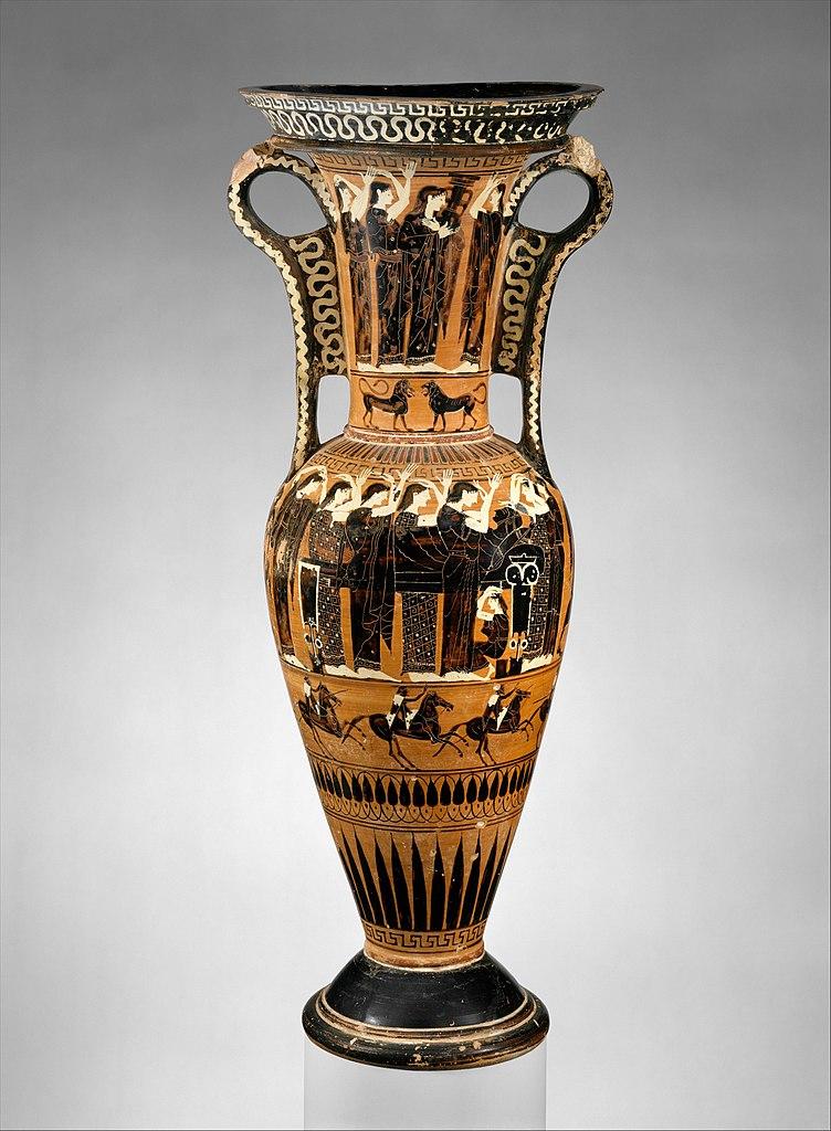 Fileterracotta Loutrophoros Ceremonial Vase For Water Met Dt7201