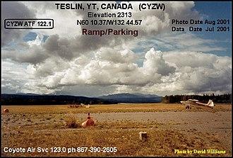 Teslin, Yukon - Image: Teslin airport, Yukon 2