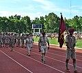 Thai Scouting dress gathering flagbearer at Uttaradit Stadium 2012.jpg