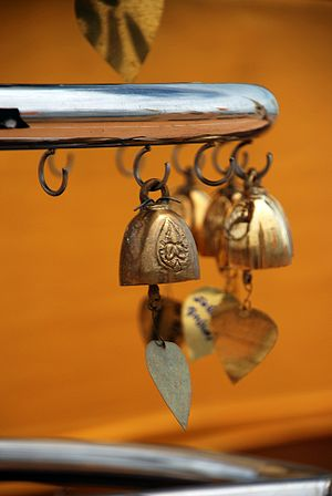 Thai bells at the Golden Mount in Bangkok, Tha...