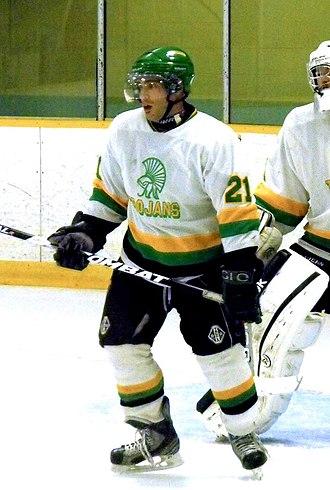 Southern Ontario Junior Hockey League - Thamesford Trojans player in 2014.