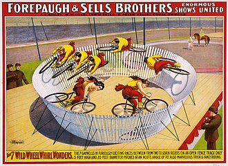 Adam Forepaugh - Image: The 7 wild wheel whirl wonders, poster for Forepaugh & Sells Brothers, 1902