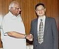 The Ambassador of China to India, Mr. Zhang Yan calls on the Speaker, Lok Sabha, Shri Somnath Chatterjee, in New Delhi on April 11, 2008.jpg