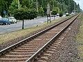 The Balatonlelle section of a Budapest–Székesfehérvár–Nagykanizsa railway line.jpg