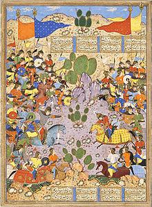The Battle between Bahram Chubina and Sava Shah LACMA M.2009.44.1 (7 of 9).jpg