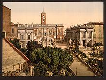 Il Campidoglio tra il 1890 e il 1900