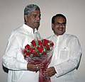 The Chief Minister of Madhya Pradesh, Shri Shivraj Singh Chauhan meeting the Minister of State (Independent Charge) of Coal, Shri Sriprakash Jaiswal, in New Delhi on June 03, 2009.jpg