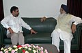The Chief Minister of Punjab, Shri Parkash Singh Badal meeting the Union Minister for Commerce & Industry, Shri Anand Sharma, in New Delhi on June 02, 2009.jpg