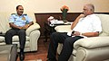 The Chief of the Air Staff, Air Chief Marshal Arup Raha calling on the Union Minister for Civil Aviation, Shri Ashok Gajapathi Raju Pusapati, in New Delhi on June 16, 2014 (1).jpg