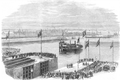 The Duke of Edinburgh opening the new entrance to the Great Northern Docks at Birkenhead, 1866.png