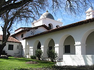 The Hacienda (Milpitas Ranchhouse) - The northwest tower is a pointed Moorish dome