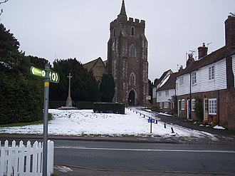 Rolvenden - Image: The High Weald Landscape Trail crosses Rolvenden High Street geograph.org.uk 1711066