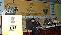 The Minister of State of Agriculture, Consumer Affairs, Food & Public Distribution, Professor K.V. Thomas addressing at the inauguration of the Agri Marketing Summit 2009, in New Delhi on December 16, 2009.jpg