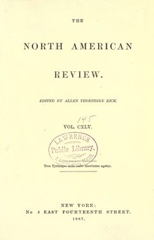 The North American Review Volume 145.djvu