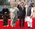 The Prime Minister, Dr Manmohan Singh with the Prime Minister of Socialist Republic of Vietnam, Mr. Nguyen Tan Dung at the ceremonial reception at Rashtrapati Bhavan in New Delhi on July 06, 2007.jpg