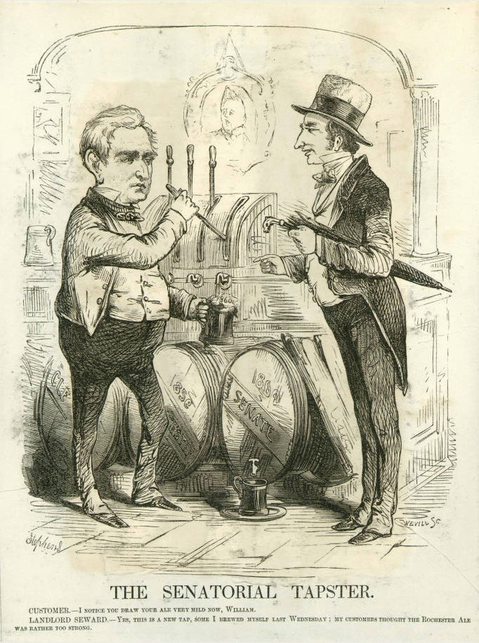 The Senatorial Tapster, H. L. Stephens, Vanity Fair 1860