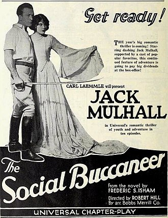 The Social Buccaneer - November, 1922 Universal Weekly advertisement for The Social Buccaneer