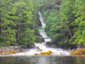 The cascades at the head of Hevenor Inlet.webp
