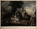 The death of General Schwerin, all around are soldiers. Engr Wellcome V0006943.jpg