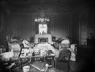 The drawing room in Plas Coed-coch, Betws-yn-Rhos