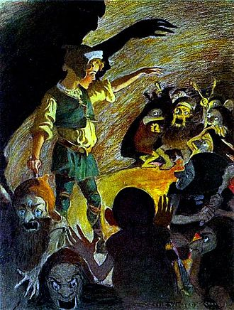 Goblin - The Princess and the Goblin by George MacDonald, illustrated by Jessie Willcox Smith, 1920