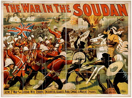 The Mahdist War was a colonial war fought between the Mahdist Sudanese and the British forces. The war in the Soudan.jpg