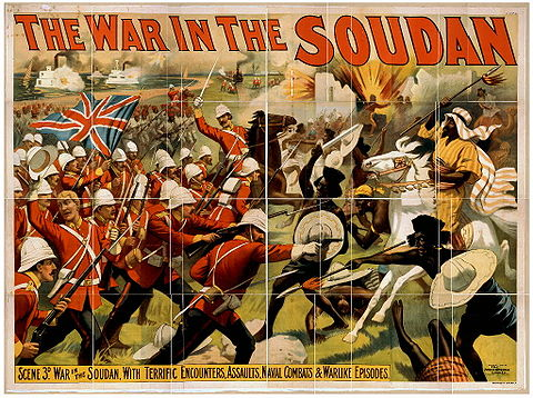 The Mahdist War was fought between a group of Muslim dervishes, called Mahdists, who had over-run much of Sudan, and the British forces. The war in the Soudan.jpg