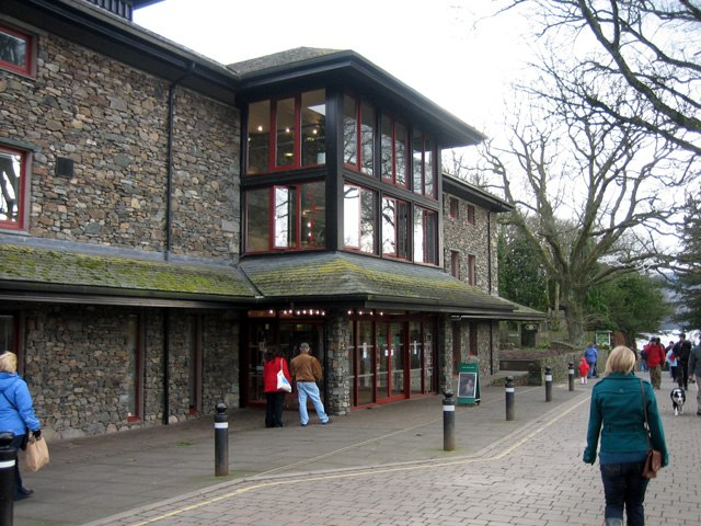 Theatre by the Lake and road down to the lake side, Keswick - geograph.org.uk - 735051