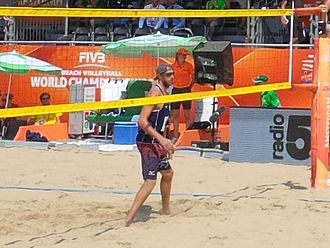 Theo Brunner - Brunner at the 2015 Beach Volleyball World Championships
