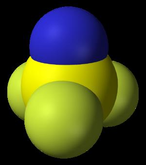 Thiazyl trifluoride - Image: Thiazyl trifluoride 3D vd W