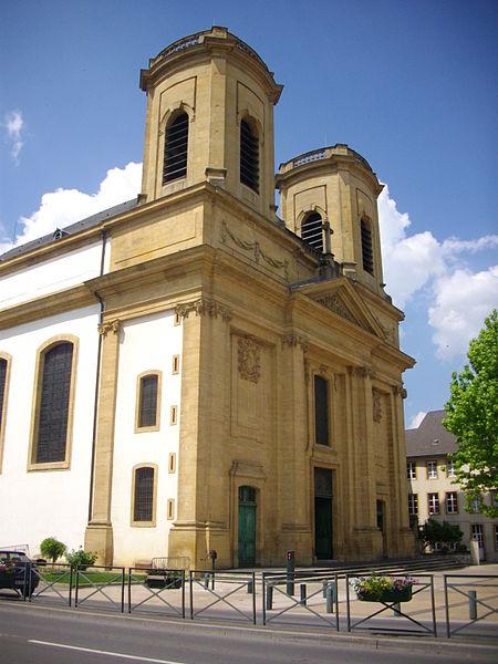 Saint Maximin church of Thionville (Moselle, France). Facade
