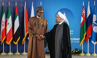 Muhammadu Buhari - Buhari with Iranian President Hassan Rouhani during the Third GECF summit