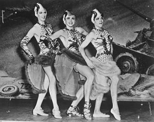 This Is the Army - Three male soldiers performing in drag in the Broadway production (1942)