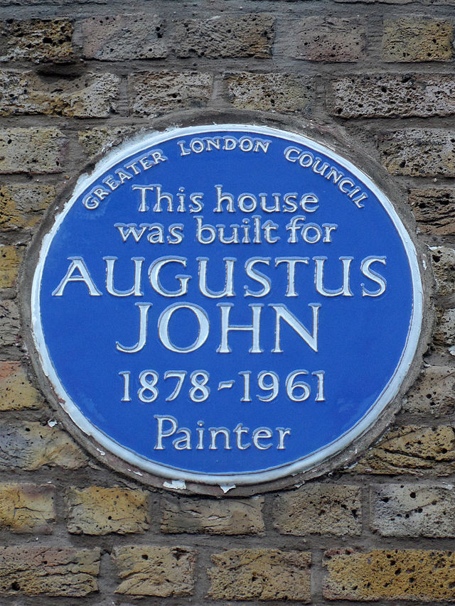 Augustus John blue plaque - This house was built for Augustus John 1878–1961 painter