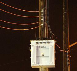 Трансформатор на линии электропередач