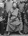 Thubten Gyatso, 13th Dalai Lama in 1910 detail, from- Hastings House Calcutta 1910 (cropped).jpg