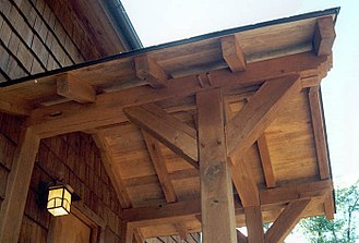 Porch - Domestic timber porch detail