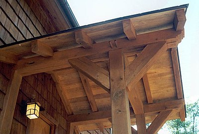 Timber frame detail