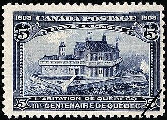 Habitation de Québec - Commemoration stamp, 1908