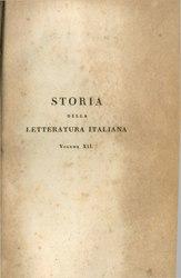 Girolamo Tiraboschi: Storia della letteratura italiana
