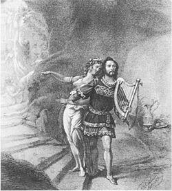Joseph Tichatschek as Tannhäuser and Wilhelmine Schröder-Devrient as Venus in the premiere in 1845
