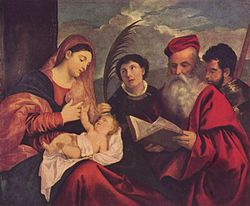 Titian: Madonna and Child with St. Stephen, St. Jerome and St. Mauritius