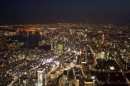 Tokyo aerial night