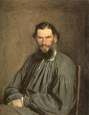 Tolstoy family - Kramskoy's portrait of Leo Tolstoy (1873)