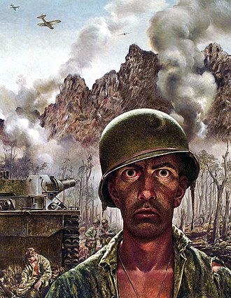 War artist - Thomas Lea's The 2000 Yard Stare published in 1945