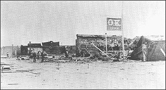 O.K. Corral (building) - Only the corral's sign remained after the May 25, 1882 fire