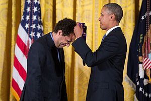 Tony Kushner - Kushner receiving a National Medal of Arts from President Barack Obama, 2013