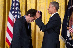 Tony Kushner - Kushner receiving a National Medal of Arts from President Barack Obama, 2013