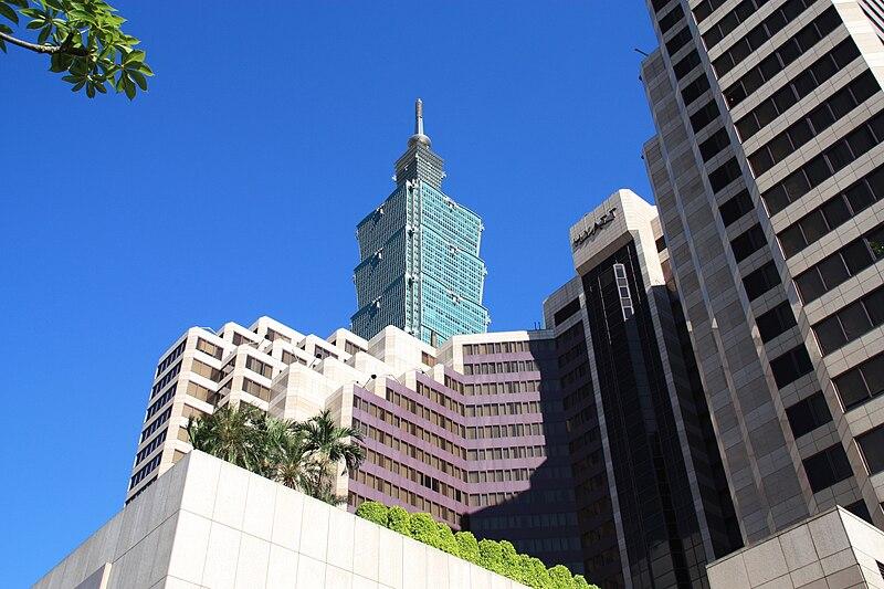 File:Top of Taipei 101 and Grand Hyatt Taipei 20100721.jpg