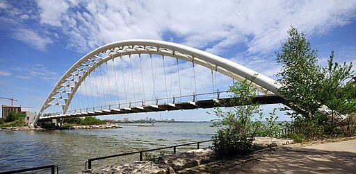 Toronto - ON - Humber Bay und Humber Bay Arch Bridge